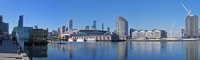 View of Melbourne from docklands