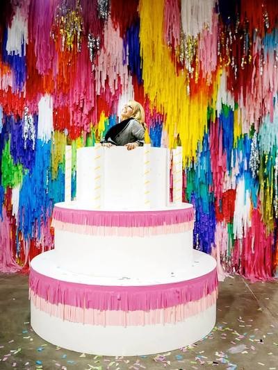 Jump Out Of A Giant Birthday Cake