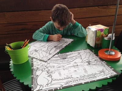 Colouring pages keeping Mr C busy