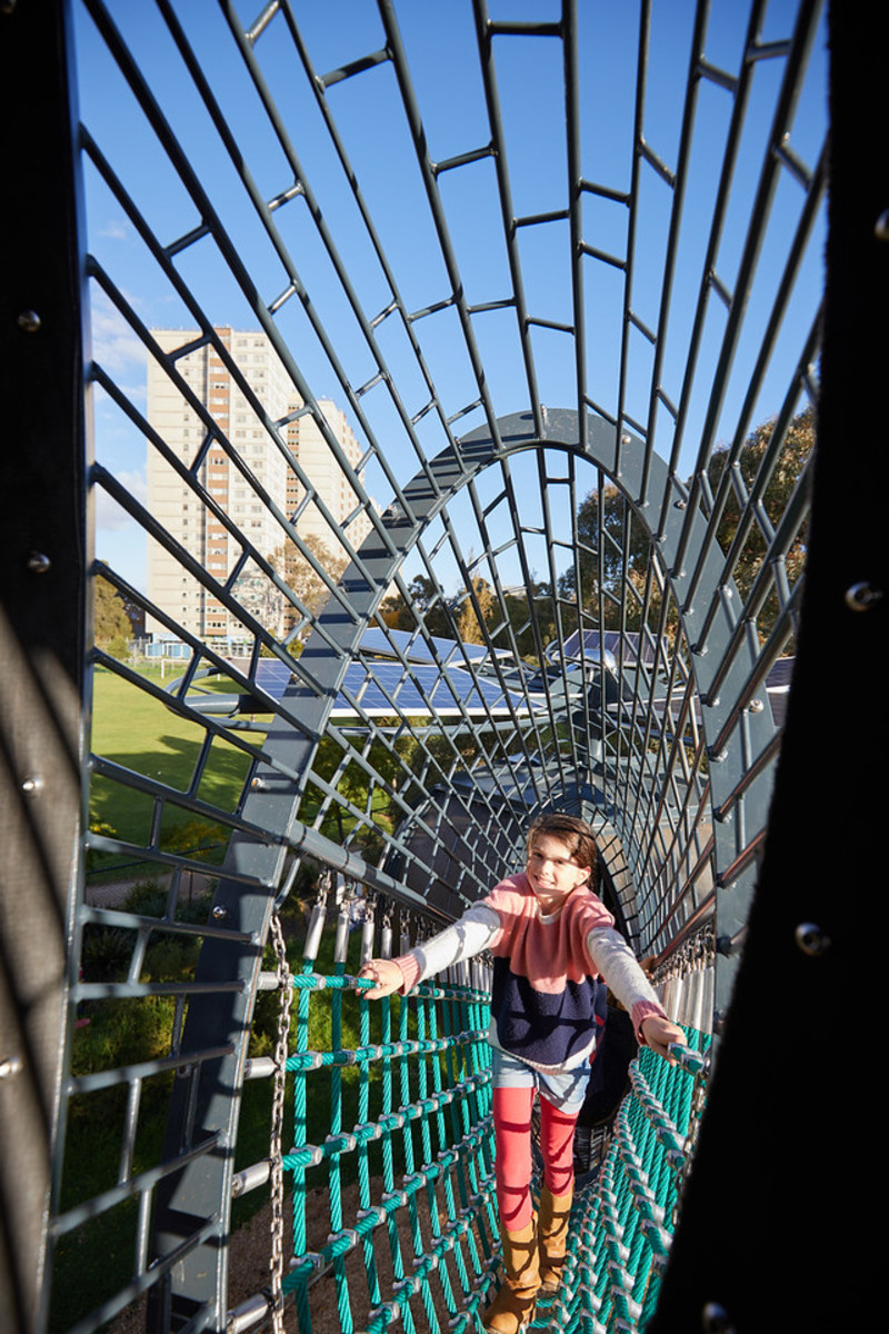 Coal Flowers Play Structure At Fitzroy Adventure Playground