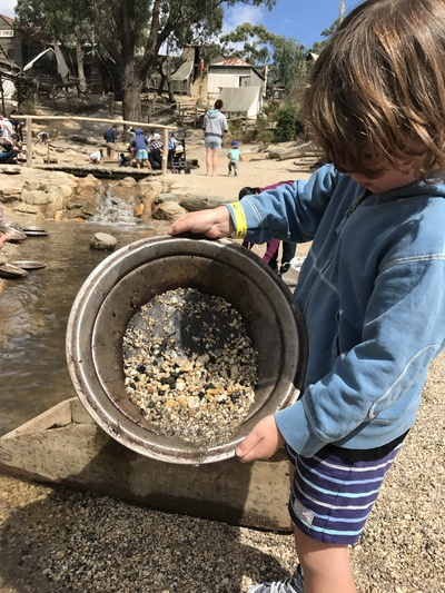 Monty panning for gold