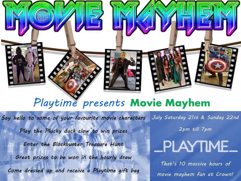 Movie Mayhem Event at Playtime Crown