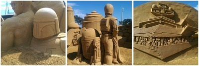 Sand Sculpting Australia - Friends, Foes and Super Heroes Montage