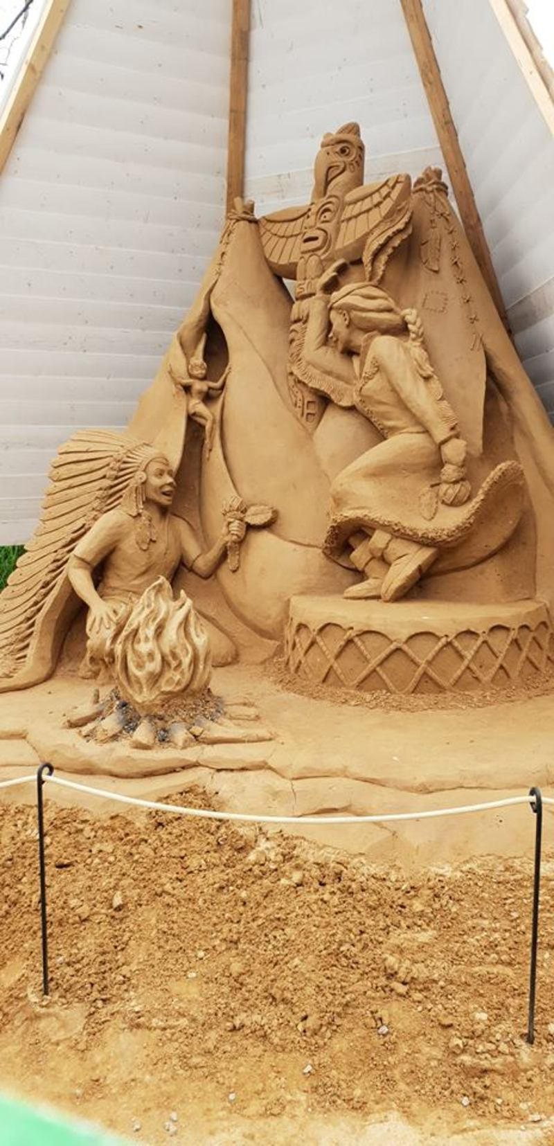 Sand Sculpting Australia presents Peter Pan at Boneo Maze