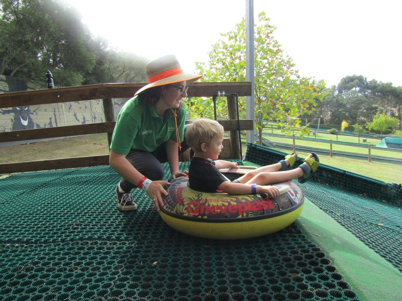 Tree Surfing and Tube Sliding at the Enchanted Adventure Garden